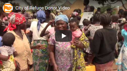 People receiving donations